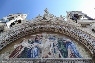 Ornate facade of the cathedral