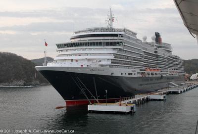 Queen Victoria docked