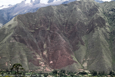 Terraced hills along the Sacred Valley