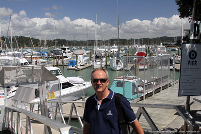 Joe at Opua marina where SV Sequoia was moored in 2004