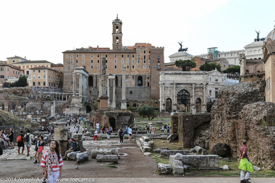 The Roman Forum is a busy place...even today!