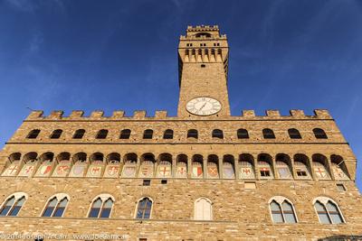 City hall against a blue sky
