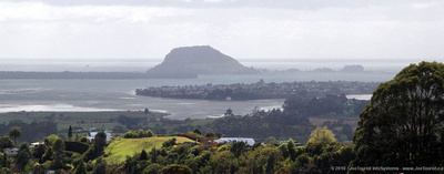 Looking south over Tauranga from outlook