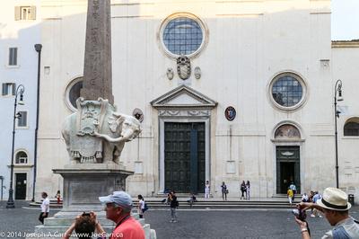Elephant and Obelisk in the Piazza della Minerva