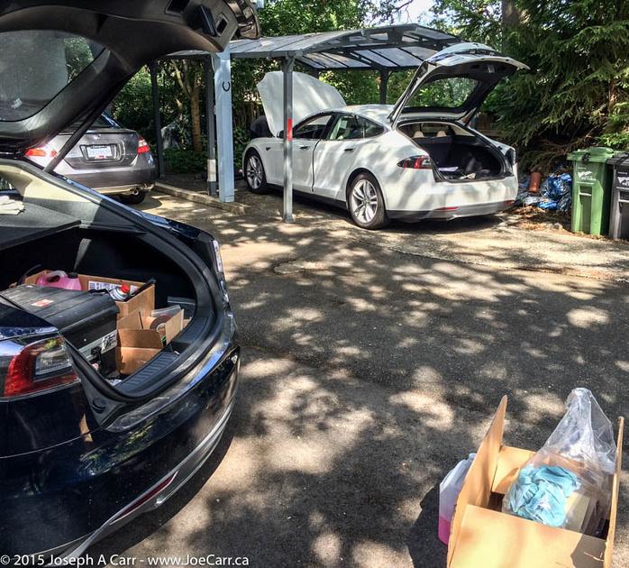 My Tesla Model S being repaired