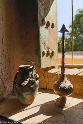 Pots in sunlight
