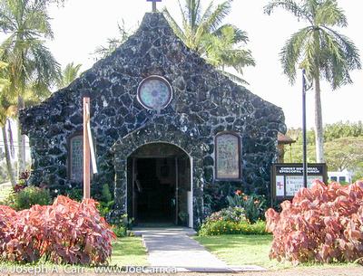 Old stone church at Kilauea