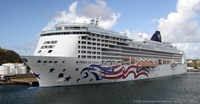 Pride of America at berth in Nawiliwili Harbour