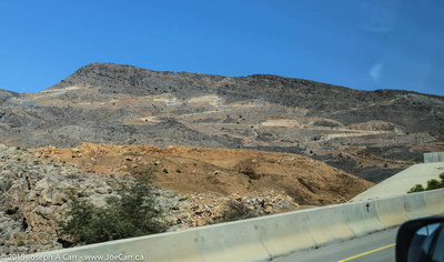 The steep road up to Jebel Akhdar