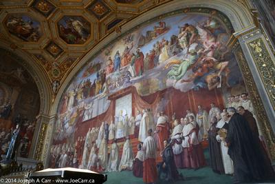 Huge fresco of a pope