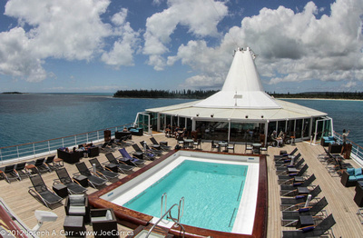 Pool deck & Ile des Pins behind