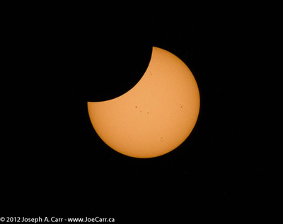 Partial Solar Eclipse before 2nd Contact