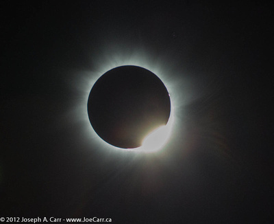 The Sun in eclipse totality - 2nd contact & diamond ring