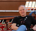 Joe relaxing on a dhow