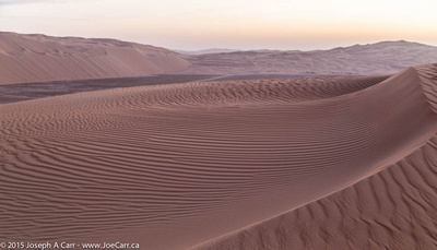Sand dunes in the pre-dawn