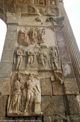 Relief carvings, Arch of Septimus Severus