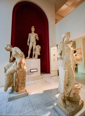 Marble Roman statues