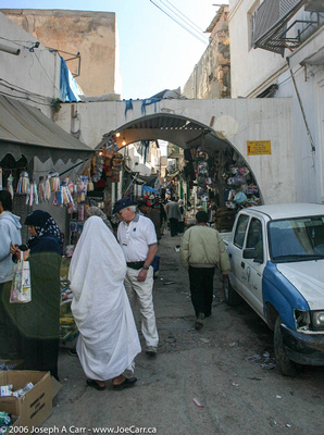 Geoff Brown last minute shopping in the Tripoli Souk