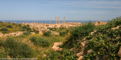 Looking over the city to the Mediterranean Sea