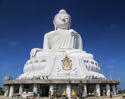Big Buddha against a blue sky