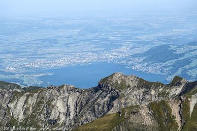 Looking over the ridgeline to Interlaken