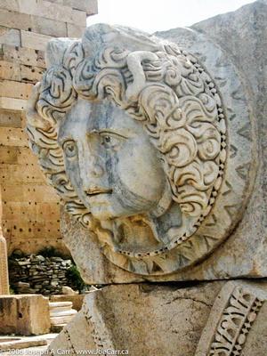Medusa in marble, The Forum of Severus