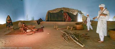 Arabic desert people diorama