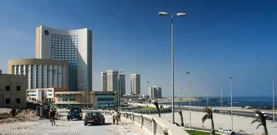 Modern towers on the Tripoli waterfront