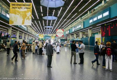 Tripoli airport concourse