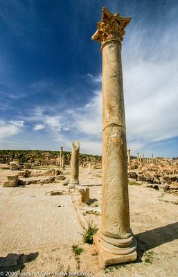 Green Italian marble columns, Antonne Temple