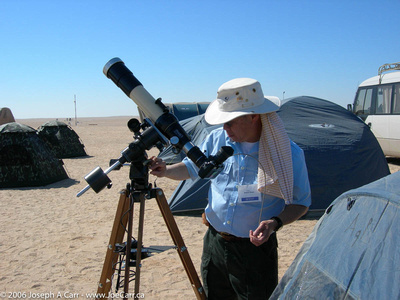 Ralph Chu ready to observe and photograph the eclipse