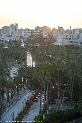 Early morning dawn over Tripoli