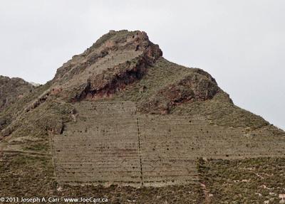 Incan terraced hills behind Pisac