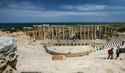 The theatre with the Mediterranean Sea behind