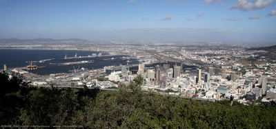 Cape Town & harbour from Signal Hill
