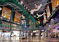 Mall interior sports theme