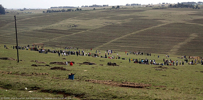 Sunday soccer game near Qunu, the birthplace of Nelson Mandela