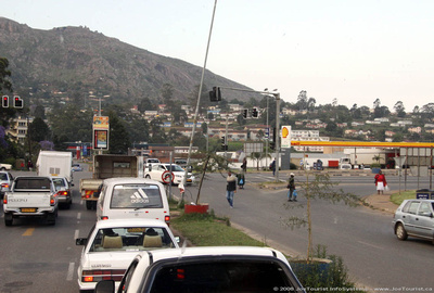 A bit of a traffic jam in Mbabane