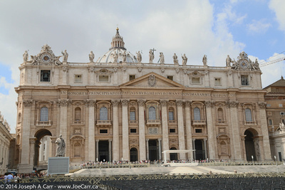 Front of St. Peter's Basilica facing the square
