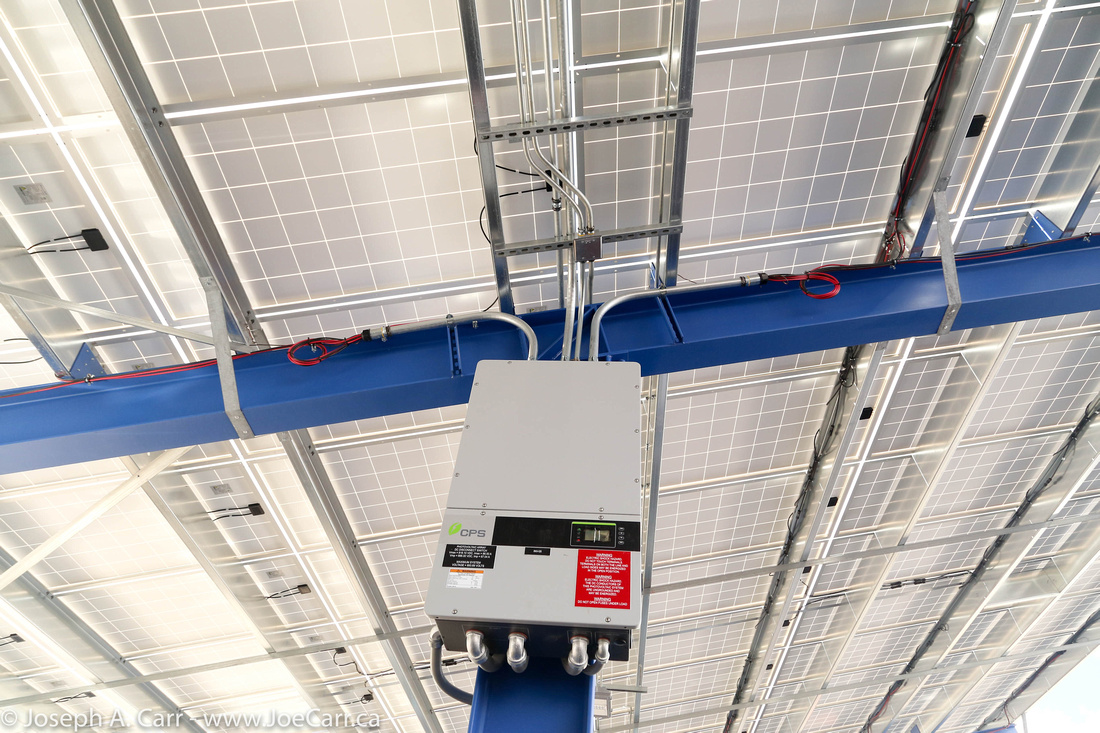 Wiring and electrical boxes for the solar panels