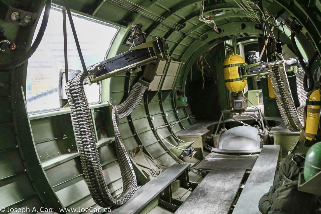 Side gunner & inside fuselage