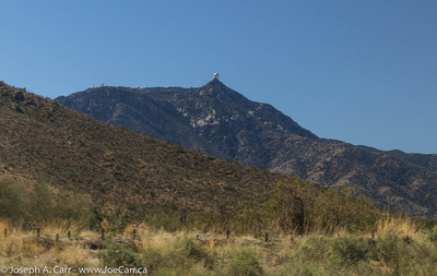 First glimpse of Kitt Peak with the observatories on the  ridgeline