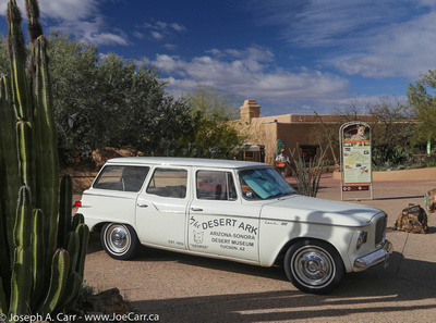 'The Desert Ark' old Studebaker Lark at the museum entrance