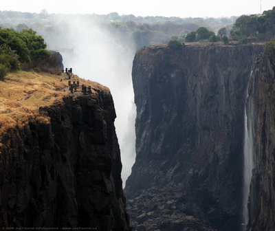 Zambezi gorge with Victoria Falls in the background
