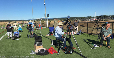 The Victoria RASC eclipse chasers on the field