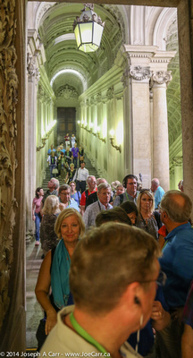 Our group leaving the Vatican Museum