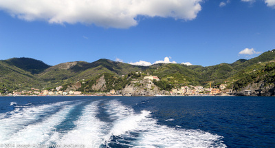 Looking back at Monterosso from the ferry as we depart