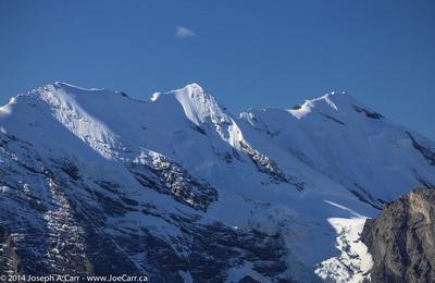 Snow-covered alpine peaks