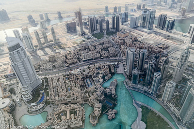 The Dubai Mall and lake, the Address Downtown Dubai hotel and Dubai Mall souks