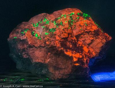 Ultra-violet lit minerals